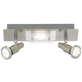 SPOT Cedula nickel 2x3W+5W LED