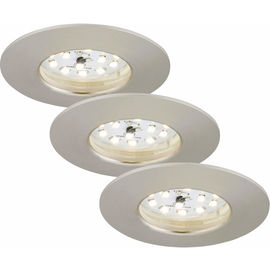 EBSP nickel 5.5W LED D:7.5CM 3er Set