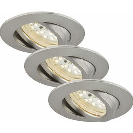 SIC nickel 5W LED D:8.2CM 3er Set