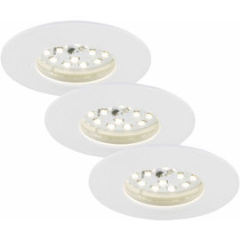 EBSP weiss 5W LED D:7.5CM 3er Set
