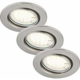 SAE nickel 3W LED GU10 D:8.6CM 3er Set