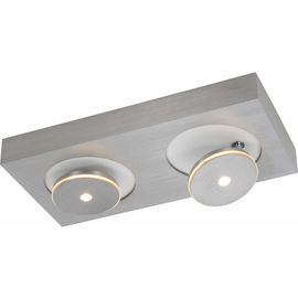 Spot it aluminium poncé 2x8W LED