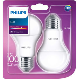 Philips LED Duopack 100W E27 ww matt