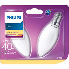 Philips Candela LED4.3W(40W) E14 Duo cb