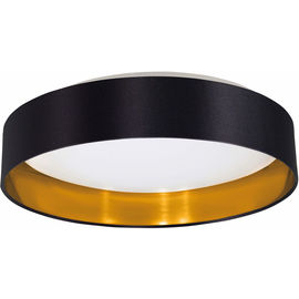 PLAF Maserlo noir-d'or 16W LED