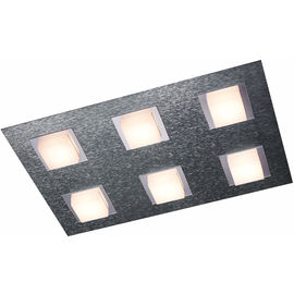 PLAF. Basic aluminium 6x4.1W LED