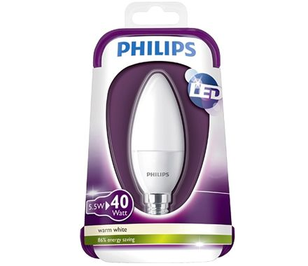 Philips  LED Kerze 5.5W (40W) E14 matt