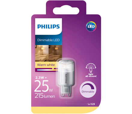 Philips Capsula LED 25W G9 regolabile cb