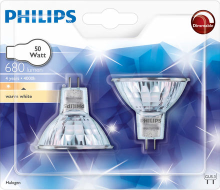 Philips réflect. halog. 50W GU5.3 Duo