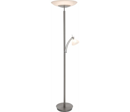 LAMP. Clasico LED nickel/blanc 36W+6W