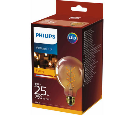 Philips Fil. Spiral LED 5W (25W) E27