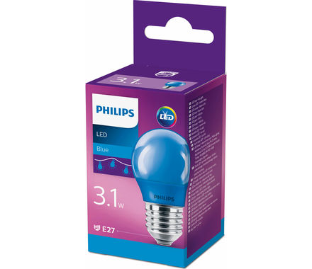 Philips Kugel LED 3.1W (15W) E27 blau
