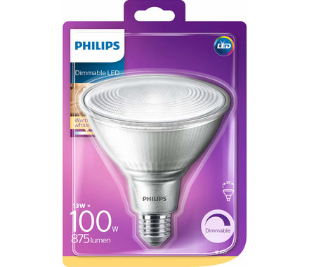 Philips Refl.LED 13W(100W) 25°dim ww