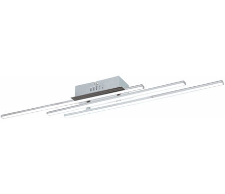PLAF Parri chrome-blanc 3x6W LED