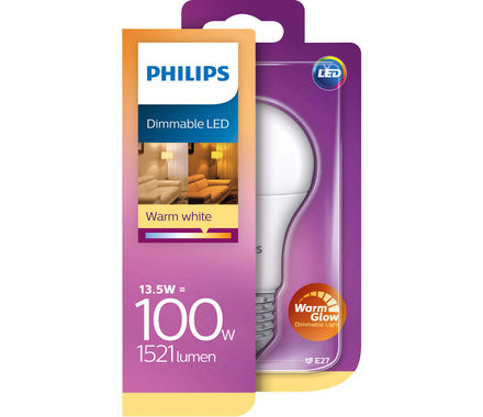 Philips LED 13W(100W) E27 matt dim. ww