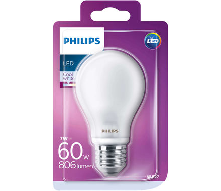 Philips LED 7.5W(60W) E27 matt kw