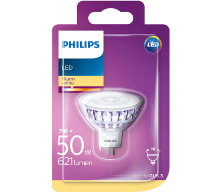 Philips LED Refl. 7W (50W) MR16 36° ww
