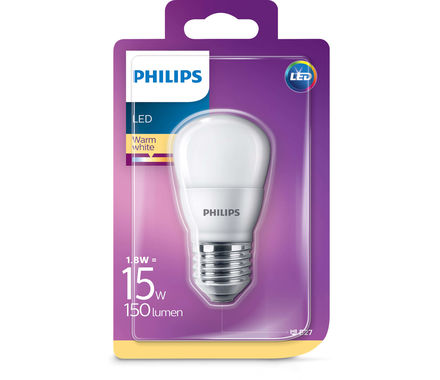 Philips LED Sferica 1.8W(15W)E27 cb tap.
