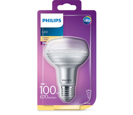 Philips LED Réfl.CLA8W(100W)R80 E27 36°
