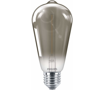 Philips LED Clas 2.3W 15W ST64 E27 smoky