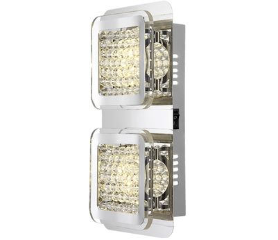 WL Cossa glas/ chrom 2x6.5W LED