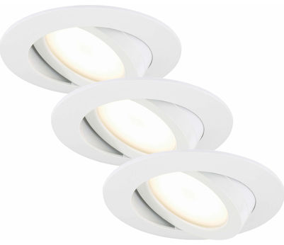 EBSP weiss 5.5W LED D:8.2CM 3er Set