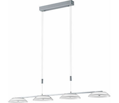 SUSP Callas nickel verre blanc 53W LED