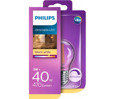 Philips Fil. Kugel LED 5W(40W) E27 d ww