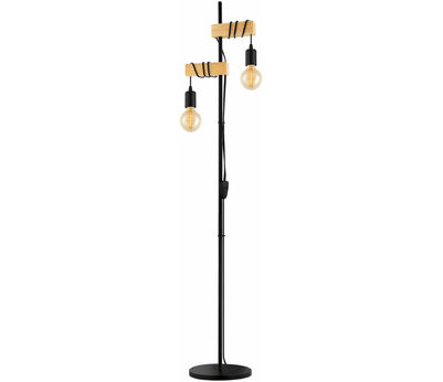 LAMP. Townshend noire-marron 2xE27-LED