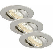 SIC nickel 5.5W LED D:8.2CM 3er Set