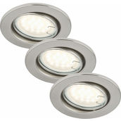 EBSP nickel 3W LED GU10 D:8.6CM 3er Set