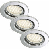 EBSP chrom 3W LED GU10 D:8.6CM 3er Set