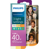 Philips SceneSwitch Kerze LED 40W E14 ww