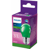 Philips Sferica LED 3.1W(15W) verde tap.